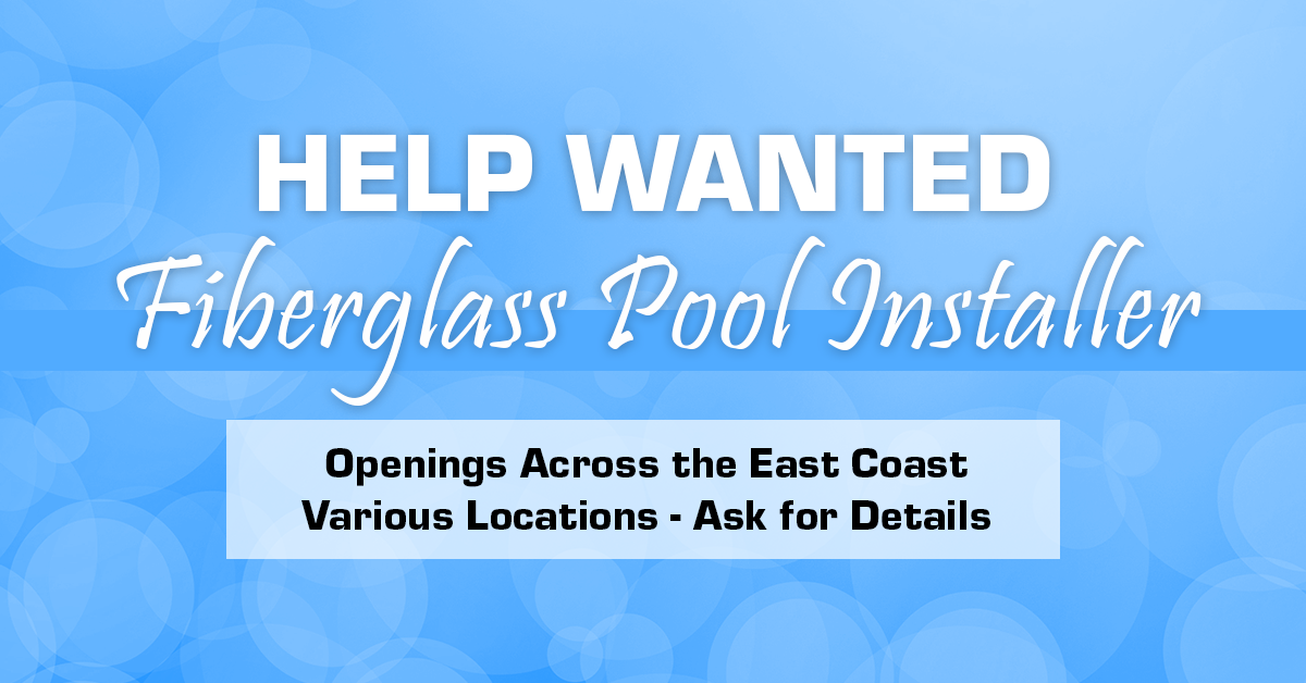 help wanted swimming pool installer laborer job